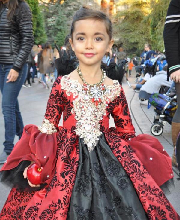 Nephali Garcia designer dad red black gown full