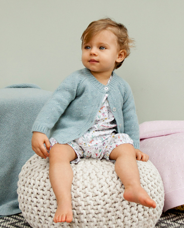 Olivier Baby and Kids rose stitch cardie