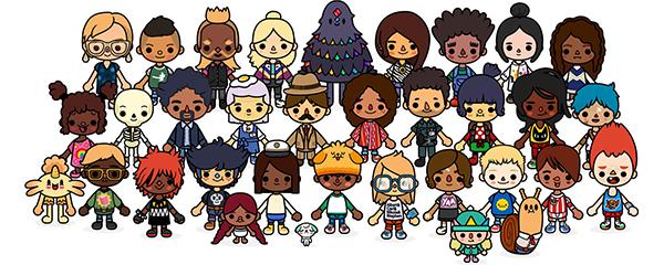 Toca School character line-up