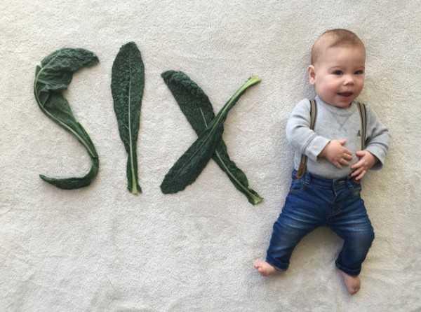 baby announcement card veg6