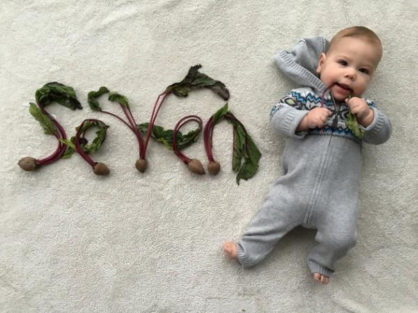 baby announcement card veg7