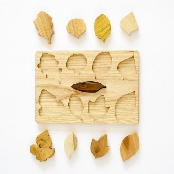 leaf puzzle pieces out