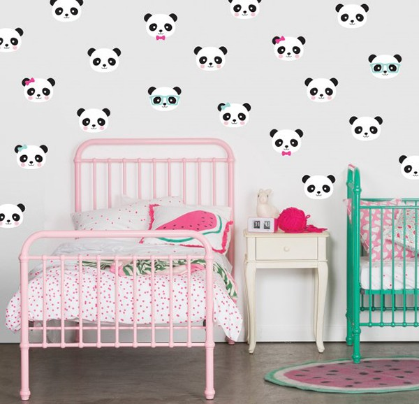 speckled house panda wall decals