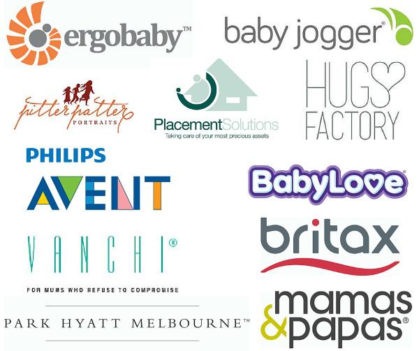 Baby Shower Sponsor Logos Melbourne August 2016