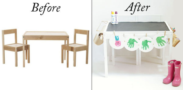 Ikea craft table DIY makeover