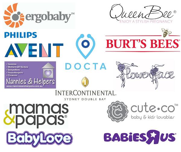 FINAL Baby Shower Sponsor Logos Montage Sydney June 2016