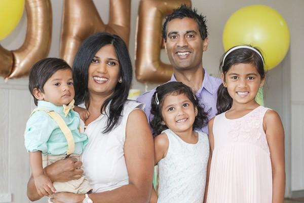 Joshuas first birthday family photo