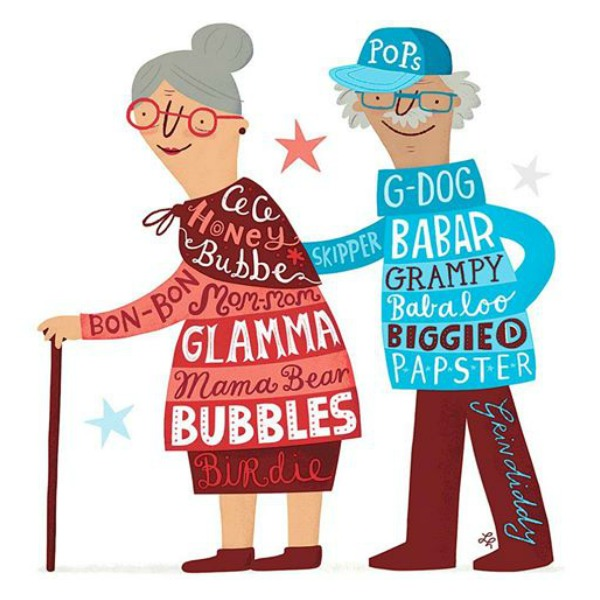 The cutest nicknames children have for their grandparents