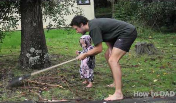 how to dad rake