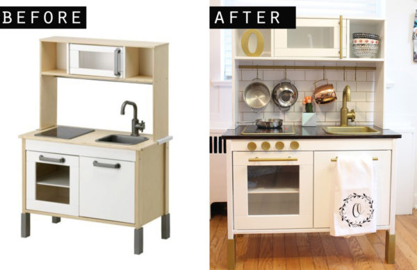 Ikea kids kitchen DIY makeover