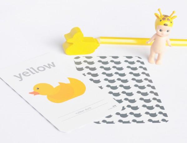 yellow flash card