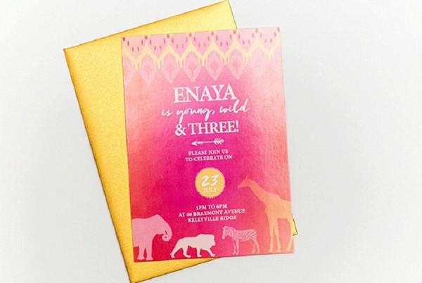 Enaya Party invitation