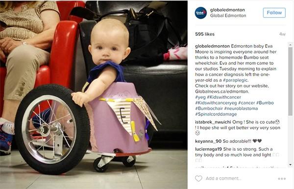 Evelyn Moore wheelchair Insta