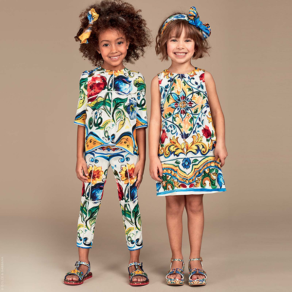 Luxe brands for kids Dolce and Gabbana