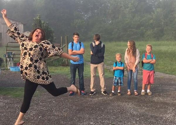 Mum's back-to-school joy