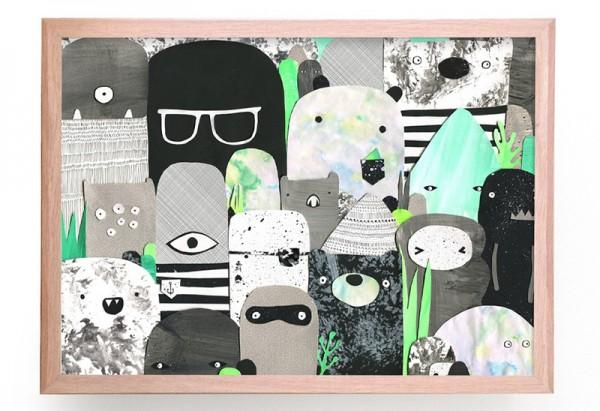 Nursery-Art-RU-Laura-Blythman-Bears-Beasties