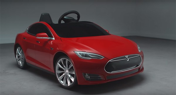 Tesla Radio Flyer car