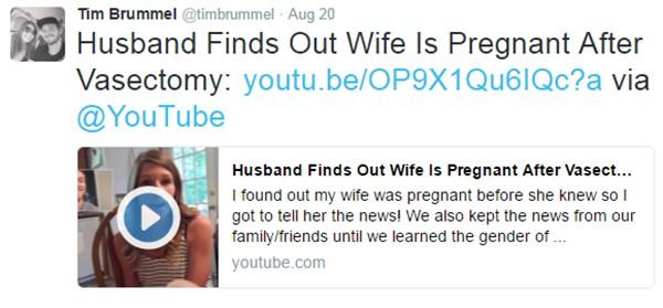 Vasectomy fail twitter