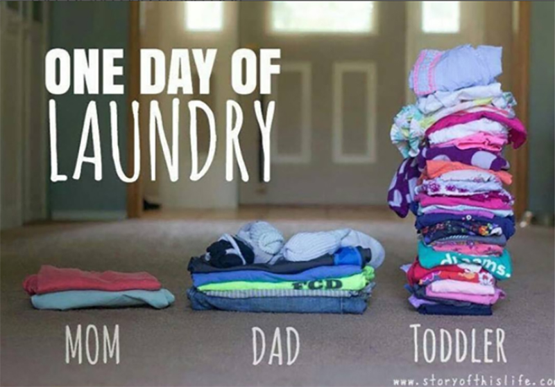 toddler and laundry meme