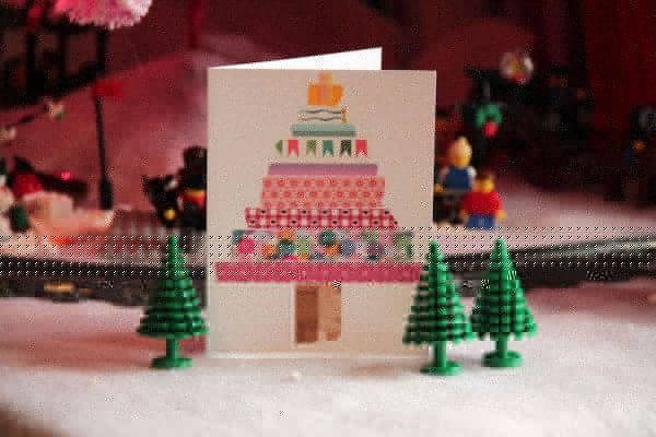 Washi tape handmade Christmas card