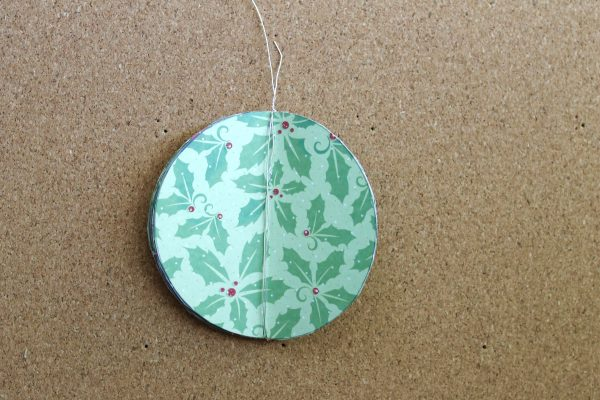 Paper Christmas bauble step 3