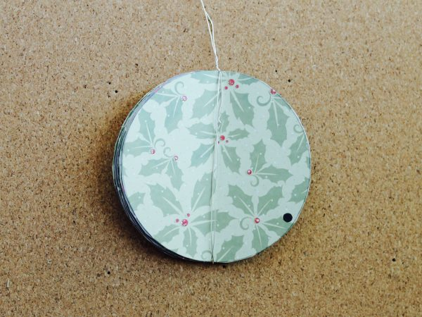 Paper Christmas bauble step 4