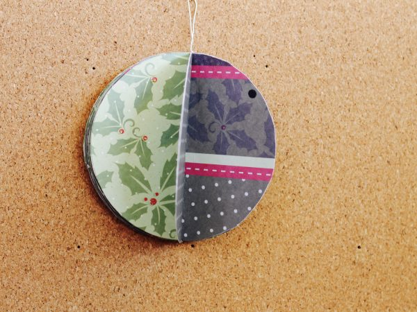 Paper Christmas bauble step 5