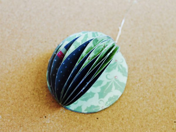 Paper Christmas bauble step 6