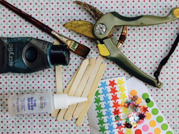 Paddle pop Christmas tree materials