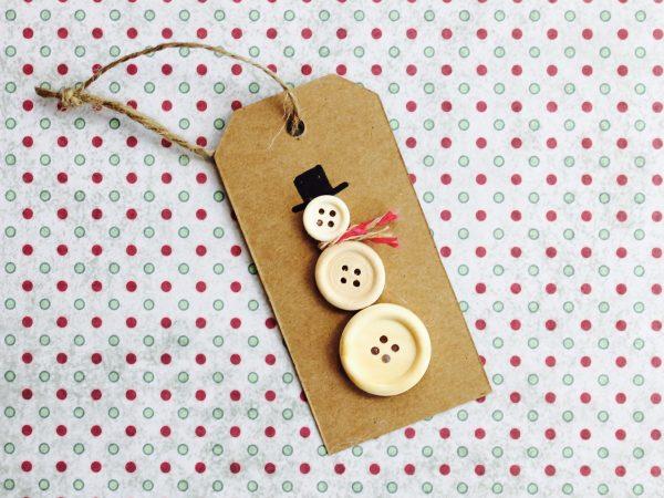 Button snowman step 2