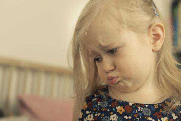 Sad preschool girl