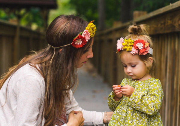 Mum and daughter flower crowns