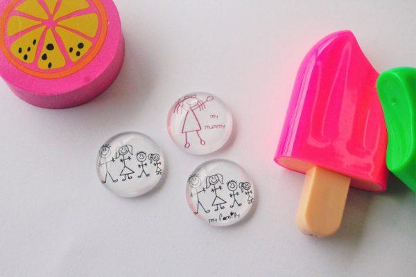 kids artwork as magnets