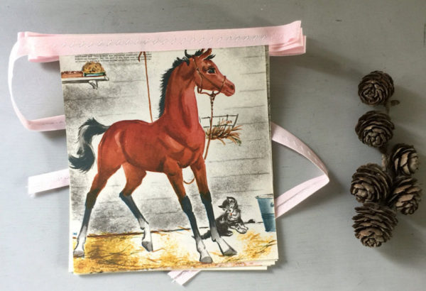 vintage storybook pony and horse bunting