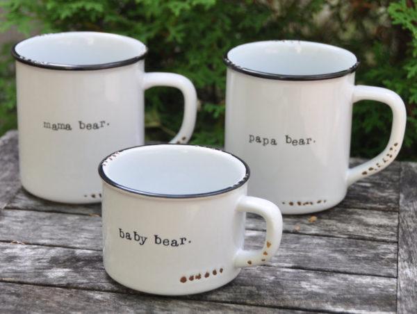 Bear family matching mugs