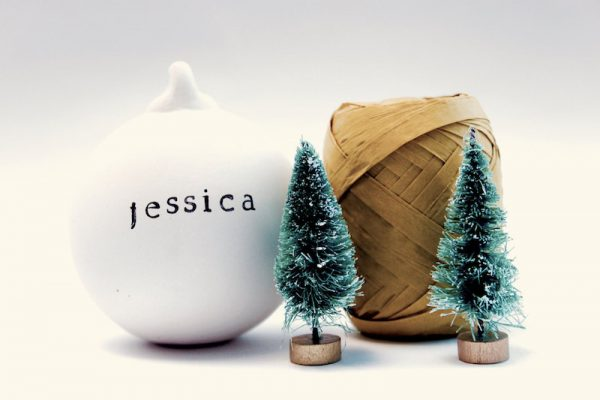 ceramic name baubles