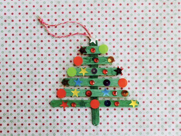 Paddle pop Christmas tree step 6