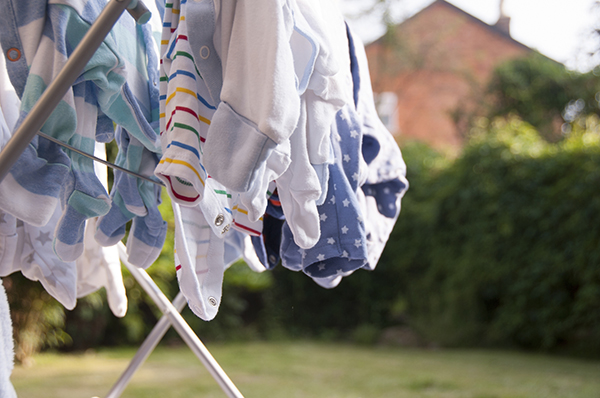 baby clothes drying laundry rack