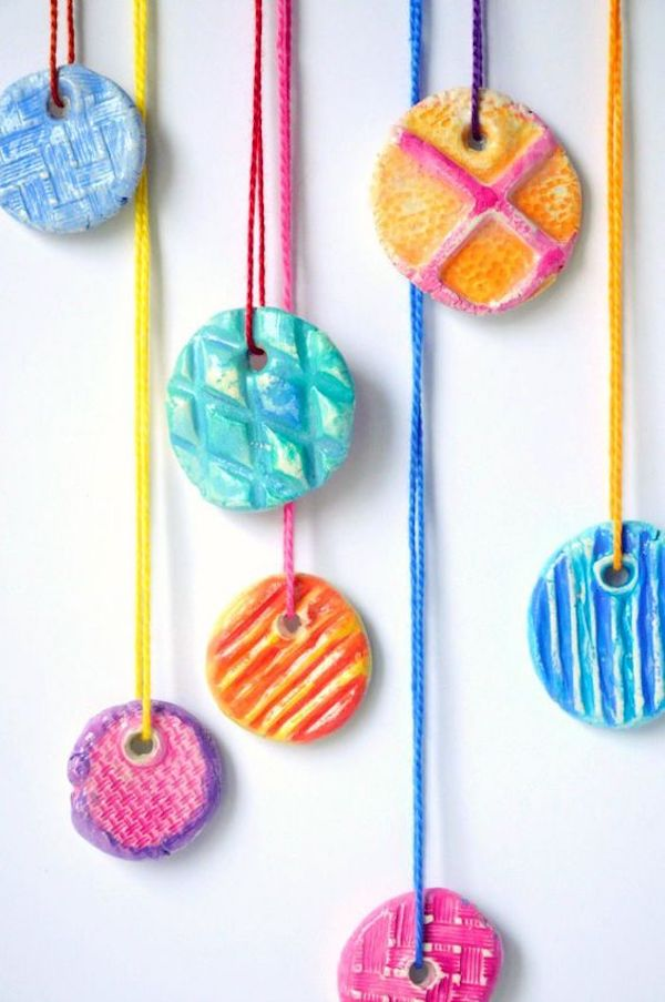 kids' clay pendants