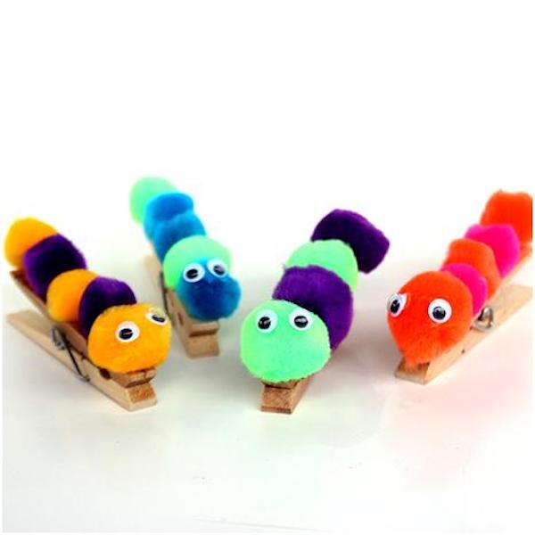 Pompom caterpillars