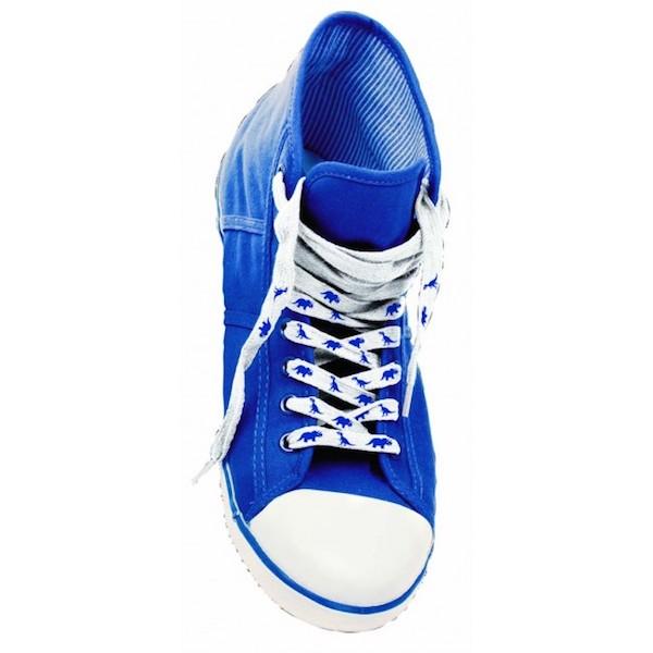 Colour change dinosaur shoe laces