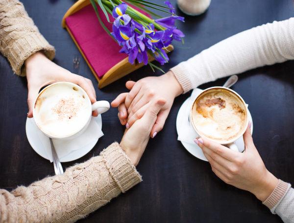 mums having coffee