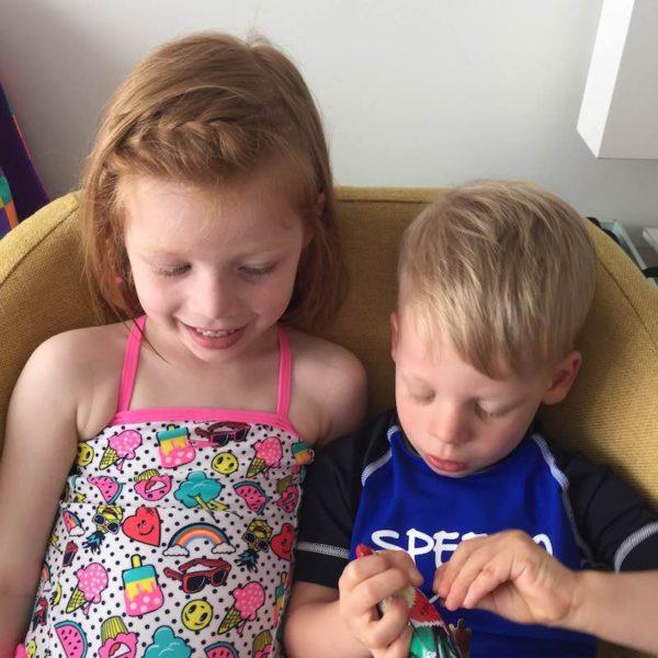 Kate's kids wearing their new Speedo swim wear