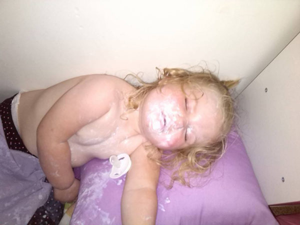 Toddler and sudocrem