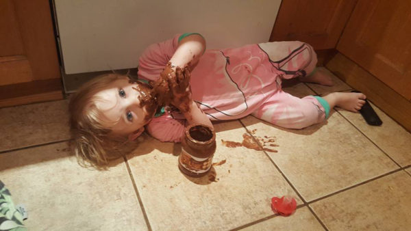 Toddler and Nutella