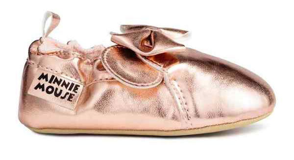rose gold baby ballet shoes