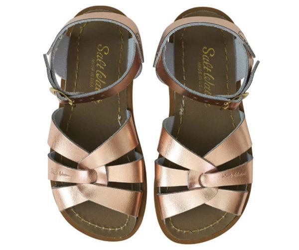 Rose gold saltwater sandals