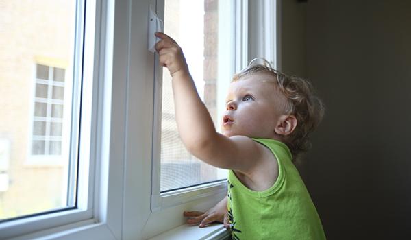 toddler opening window