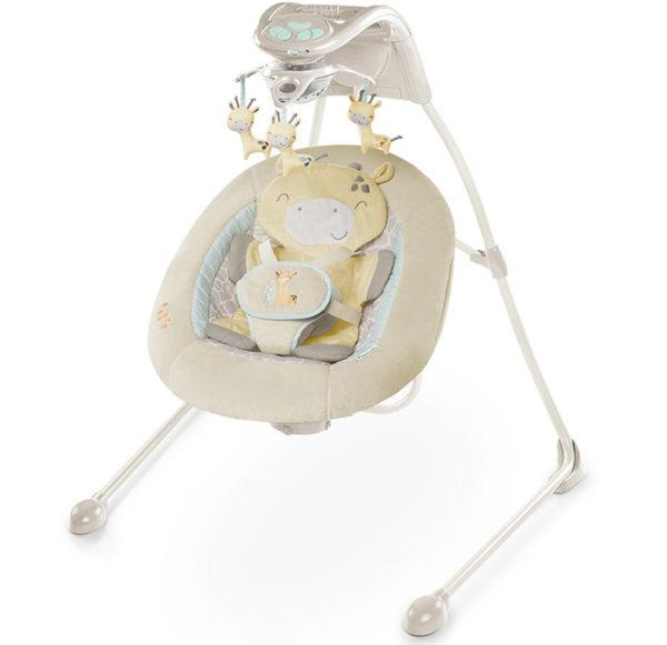 Ingenuity Inlighten Cradling Swing - Cuddle Giraffe