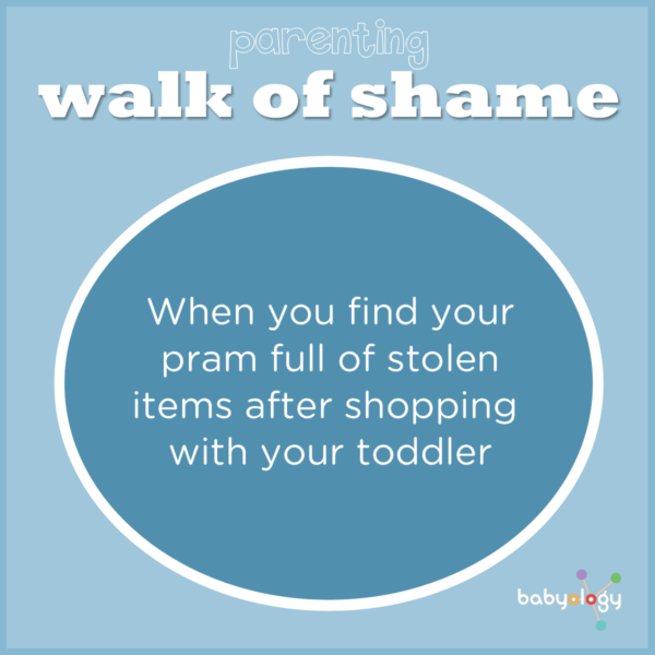 parenting walk of shame